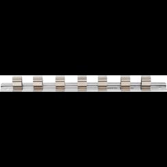 """Opsteekrail met 7 clips  12,5 mm (1/2"""")"""