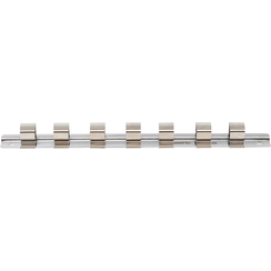 """Socket Rail with 7 Clips  12.5 mm (1/2"""")"""