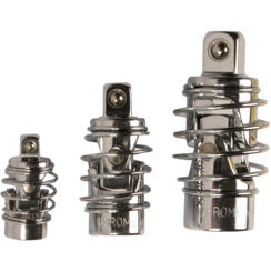 """Universal Joint Set  with spring  6.3 mm (1/4"""") / 10 mm (3/8"""") / 12.5 mm (1/2"""")  3 pcs."""