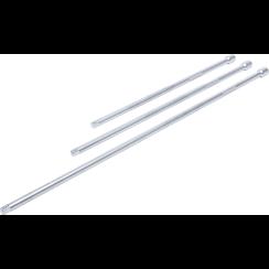 """Verlengstukset  10 mm (3/8"""")  375 / 450 / 600 mm  3-dlg"""