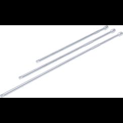"""Verlengstukset  6,3 mm (1/4"""")  300 / 380 / 450 mm  3-dlg"""