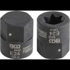 Remklauw dopsleutel  E-profiel (voor Torx)  voor MAN TGA  aandrijving buitenzeskant 30 mm  E24
