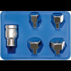 Bitset  voor motorbanden  binnenzeskant 17 - 24 mm