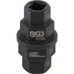 """Motorcycle Special Socket  10 mm (3/8"""")  17 - 19 - 22 - 24 mm"""