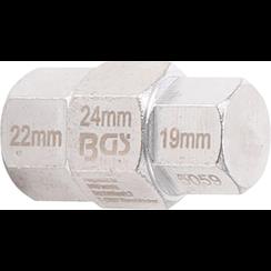 Motorfiets dopsleutel  19 - 22 - 24 mm