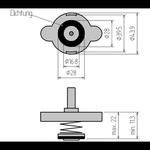 BGS  Technic Adapter nr. 4 voor BGS 8027, 8098  voor Ford, Honda, Hyundai, Lexus, Mazda, Mercedes-Benz, Mitsubishi, Nissan, Peugeot, Subaru, Suzuki, Toyota