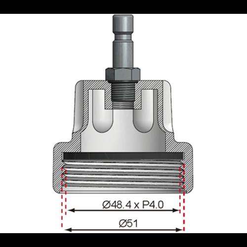 BGS  Technic Adapter nr. 11 voor BGS 8027, 8098  voor Audi, VW