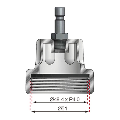 BGS  Technic Adaptor No. 11 for BGS 8027, 8098  for Audi, VW