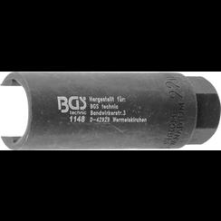"Oxygen Sensor Socket  10 mm (3/8"") Drive  22 mm x 90 mm  20 mm slot"