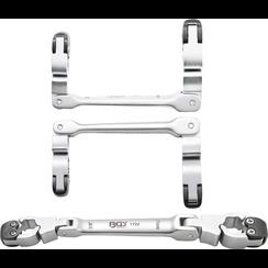 Remleiding sleutel met ratelfunctie  10 x 11 mm