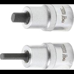 """Dopsleutel voor veerpoot spreider  12,5 mm (1/2"""")  5 x 7 mm + 5,5 x 8,2 mm  2-dlg."""