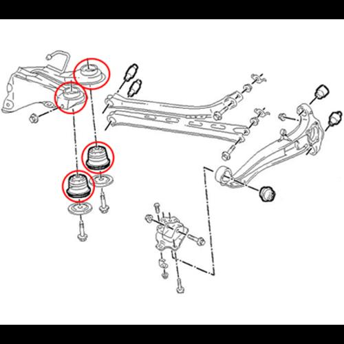 BGS  Technic Achteras-draagarmbus gereedschapset  voor Opel Vectra