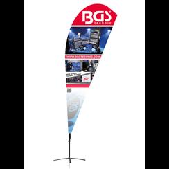 BGS® Beachflag  Design 3  422 x 90 cm