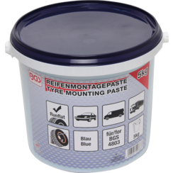 Tyre Fitting Grease For Run Flat Tyres  blue  5 kg