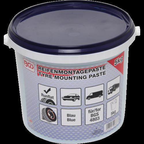 BGS  Technic Bandenmontagepasta voor Run-Flat-banden  blauw  5 kg