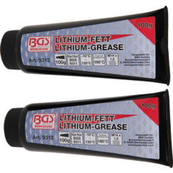Lithium Grease for Grease Gun BGS 9311  2 Tubes