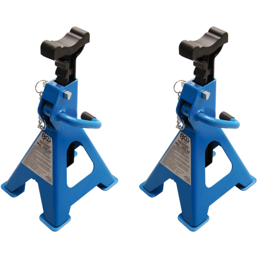 BGS  Technic Axle Stands  load capacity 2000 kg / pair  stroke 268 - 418 mm  1 pair