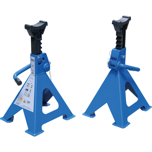 BGS  Technic Axle Stands  load capacity 6000 kg / pair  stroke 382 - 600 mm  1 pair