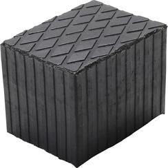 Rubberen pad  voor hefplatforms  160 x 120 x 120 mm