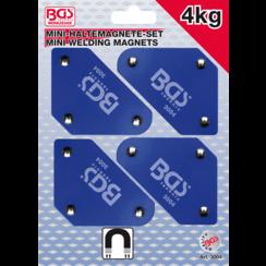 Mini magneethouderset  45° - 90° - 135°  4-dlg