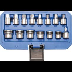 Doppenset magnetisch voor olieaftapschroeven  15-dlg