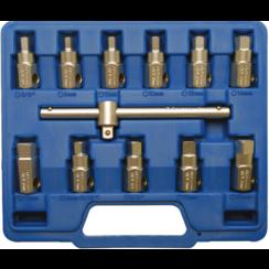 Universal Oil Drain Socket Set  12 pcs.