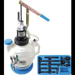 Transmissieolie-vulapparaat met handpomp  met terugloopsysteem  met 8 adapters  7 l
