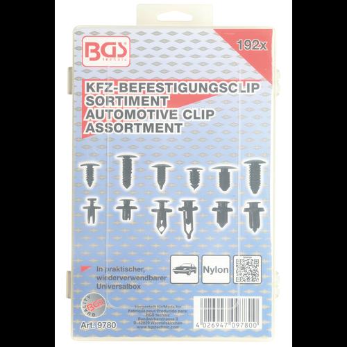 BGS  Technic Automotive Clip Assortment  Universal  192 pcs.
