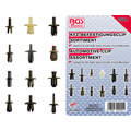 BGS  Technic Automotive Clip Assortment for VW, Audi, Volvo, Chrysler, Ford, Mercedes-Benz  350 pcs.