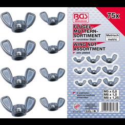 Wing Nut Assortment  75 pcs.