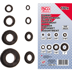 Assortiment doorvoertulen rubber  inchmaat  180-dlg