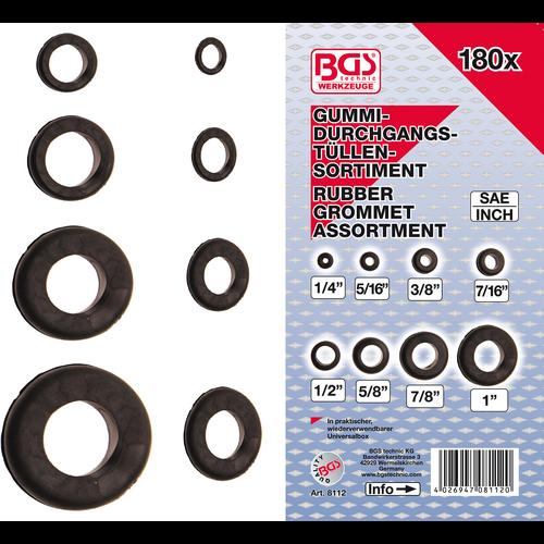 BGS  Technic Assortiment doorvoertulen rubber  inchmaat  180-dlg
