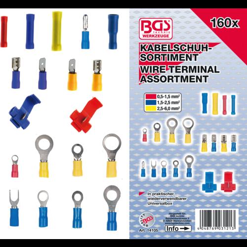 BGS  Technic Assortiment kabelschoenen  160-dlg