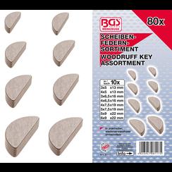 Woodruff Key Assortment  80 pcs.