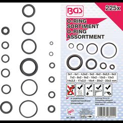 O-ring-assortiment  Ø 3 - 22 mm  225-dlg