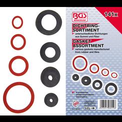 Seal Ring Assortment  Rubber and Fibreglass  141 pcs.