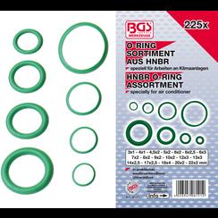 O-ring-assortiment  HNBR  Ø 3 - 22 mm  225-dlg