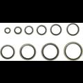 BGS  Technic Assortiment afdichtringen  metaal  met rubberen kraal  150-dlg