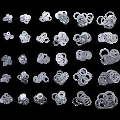 Assortiment afdichtringen  aluminium  300-dlg