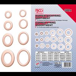 Seal Ring Assortment  Copper  300 pcs.