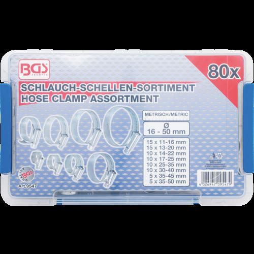 BGS  Technic Assortiment slangklemmen  80-dlg
