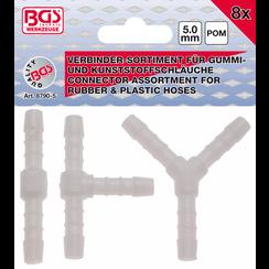 Assortimenten slangverbinders  brandstofbestendig  5 mm  8 dlg.