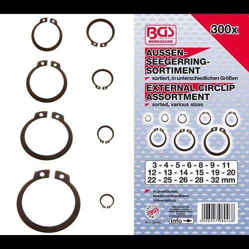 BGS  Technic Assortiment borgringen buiten  Ø 3 - 32 mm  300-dlg