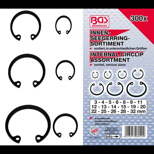 BGS  Technic Assortiment borgringen binnen  Ø3 - 32 mm  300-dlg