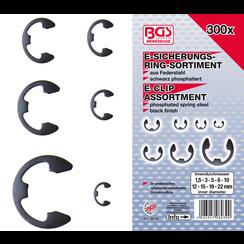 Metric E-Clip Assortment  1.5 - 22 mm  300 pcs.