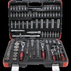 "Socket Set  6.3 mm (1/4"") / 10 mm (3/8"") / 12.5 mm (1/2"") Drive  172 pcs."