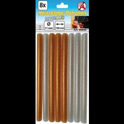 Glue Sticks  gold/silver metallic  Ø 11 mm, 150 mm  8 pcs.