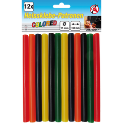Glue Sticks  colored  Ø 11 mm, 150 mm  12 pcs.