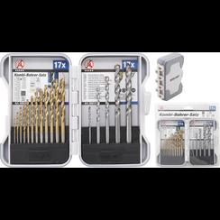 Combination Drills Set  1.5 - 10 mm  17 pcs.