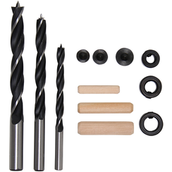 Deuvel-/houtborenset  6 - 10 mm  43-dlg